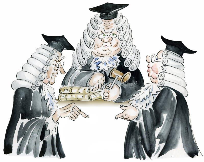 Sesión en los tribunales stock de ilustración