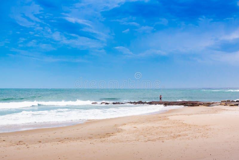 Sesión fotográfica por la playa fotos de archivo libres de regalías