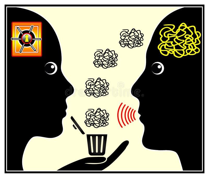 Sesja psychiatra ilustracja wektor