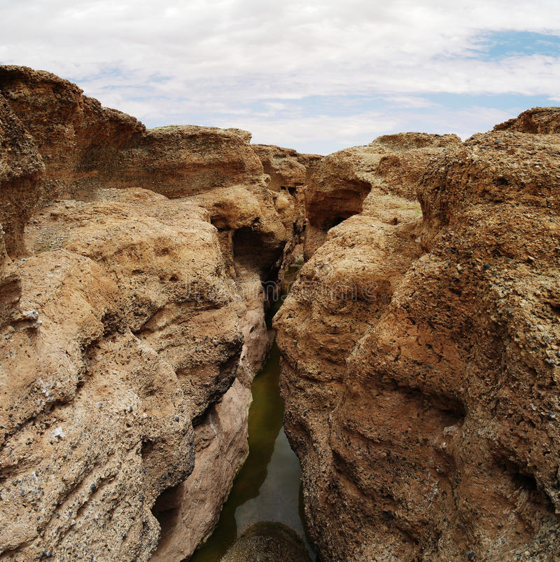Sesriem-Schlucht von Tsauchab-Fluss lizenzfreie stockbilder