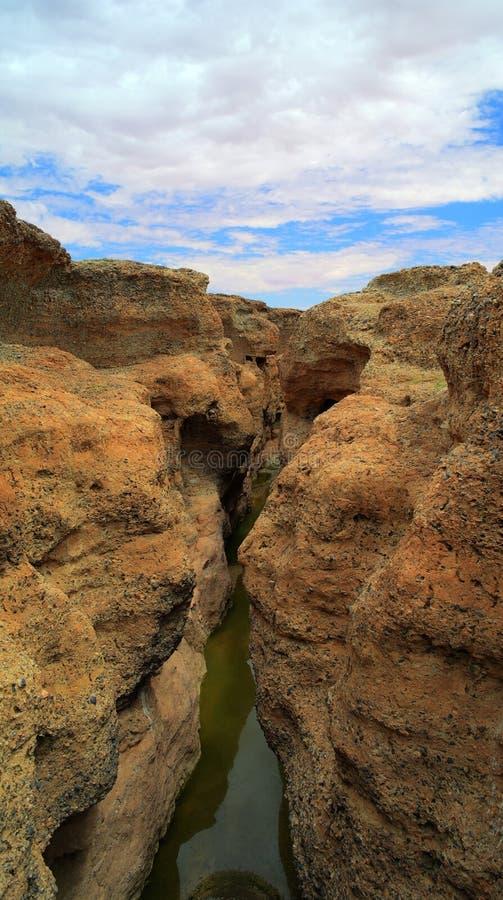 Sesriem-Schlucht von Tsauchab-Fluss stockfotografie