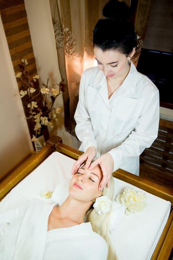Sessão da massagem de cara fotografia de stock royalty free
