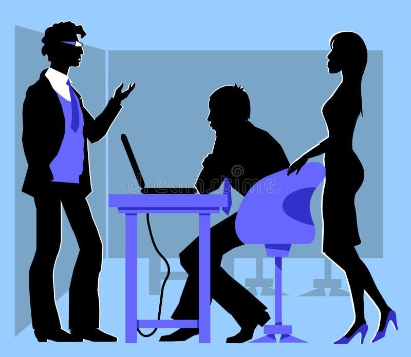 Sessão de reflexão ilustração royalty free