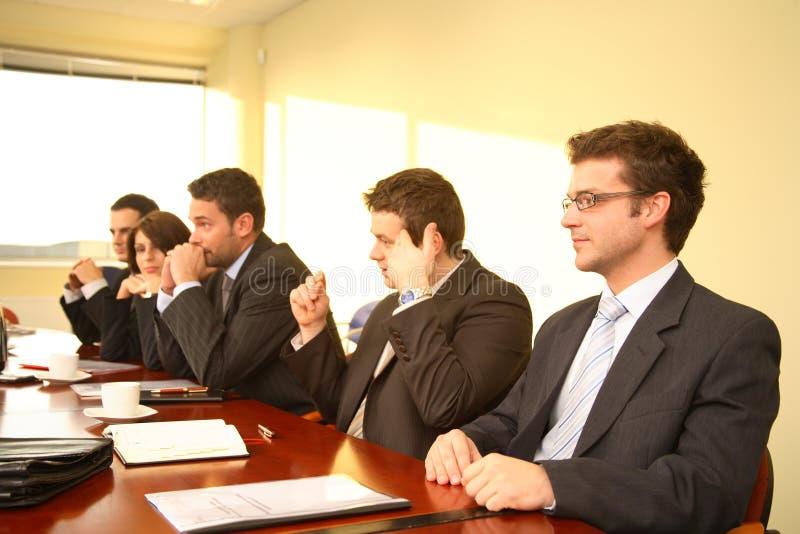 Sessão de reflexão da sala de reuniões foto de stock royalty free