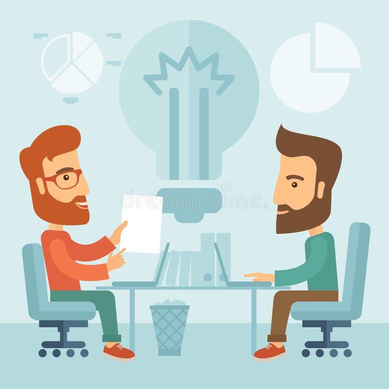 Sessão de reflexão do negócio ilustração stock