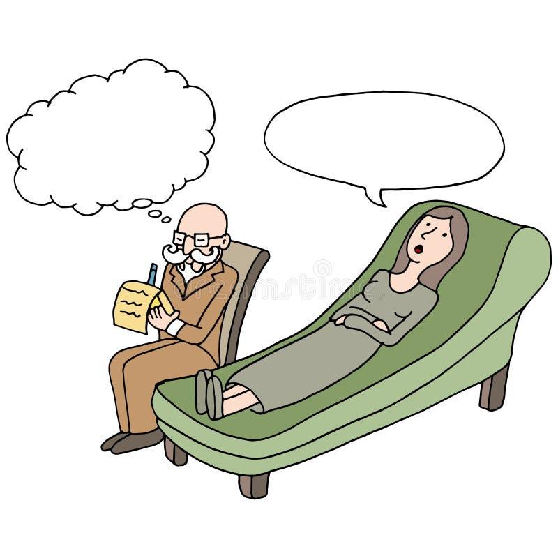 Sessão de terapia fêmea ilustração royalty free