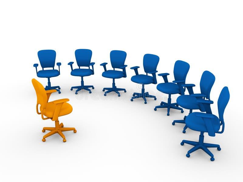 Sessão do planeamento no escritório ilustração royalty free