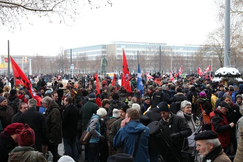 sessantacinquesima commemorazione del bombardamento di Dresda fotografia stock libera da diritti