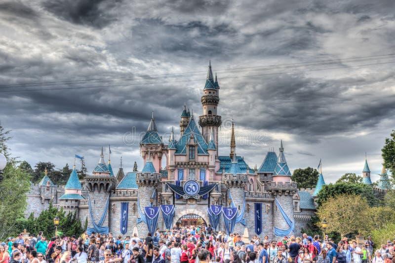 sessantesimo castello di Disneyland fotografia stock
