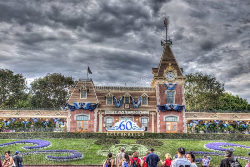 sessantesimo Disneyland Front Entrance fotografia stock
