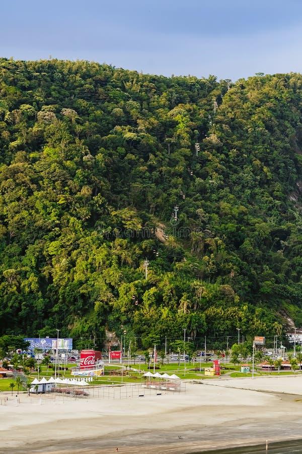 Sessellift Sao Vicente SP Brasilien lizenzfreie stockfotos