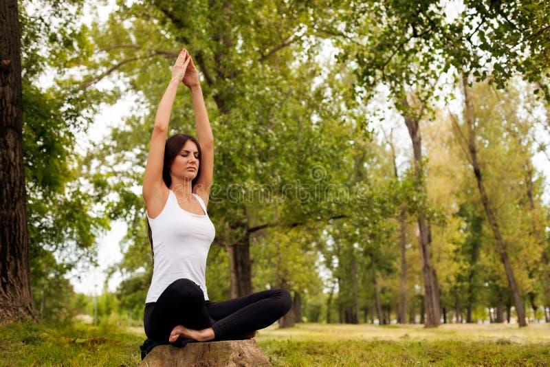 Session de yoga en nature images stock