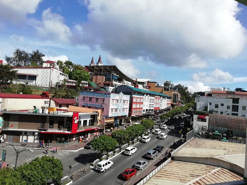 Session Road Baguio City. Session road viewed from Prime hotel in 2018 on a sunny day stock photography