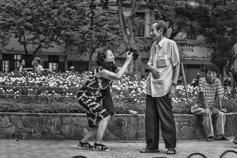 Sessione di foto della via nel Vietnam fotografia stock libera da diritti