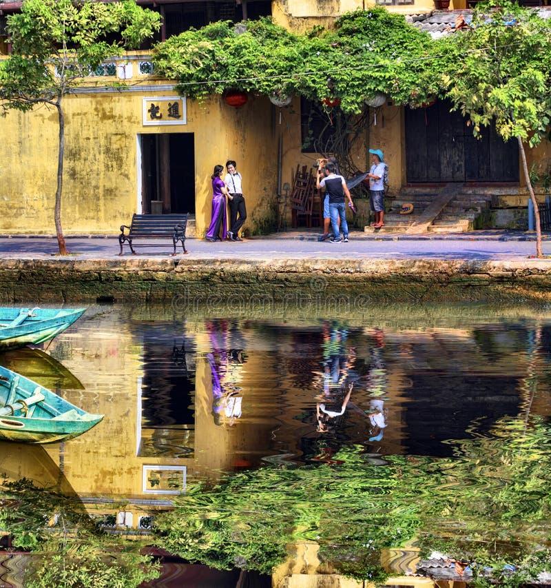 Sessione di foto della via nel Vietnam fotografia stock
