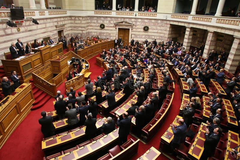 Sessione greca del Parlamento fotografia stock libera da diritti