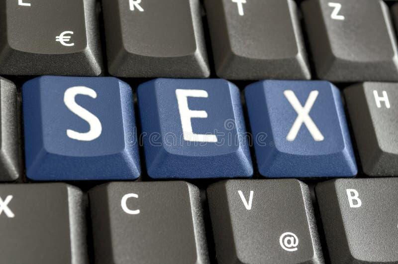 Sesso compitato sulla tastiera di computer immagine stock