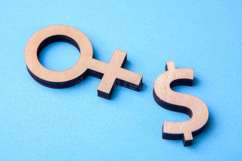Sesso per soldi Servizi di intimo e di prostituzione per soldi fotografia stock