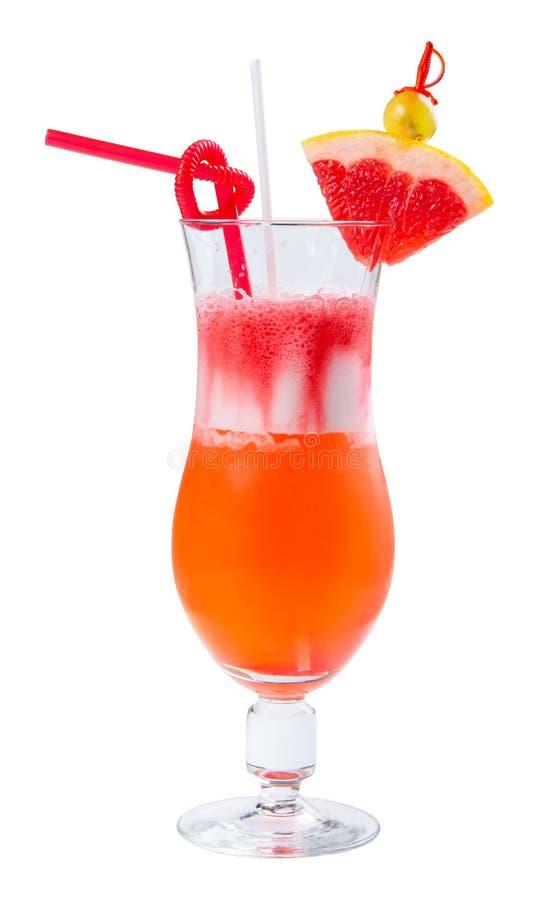 Sesso sul cocktail della spiaggia in un vetro alto fotografia stock