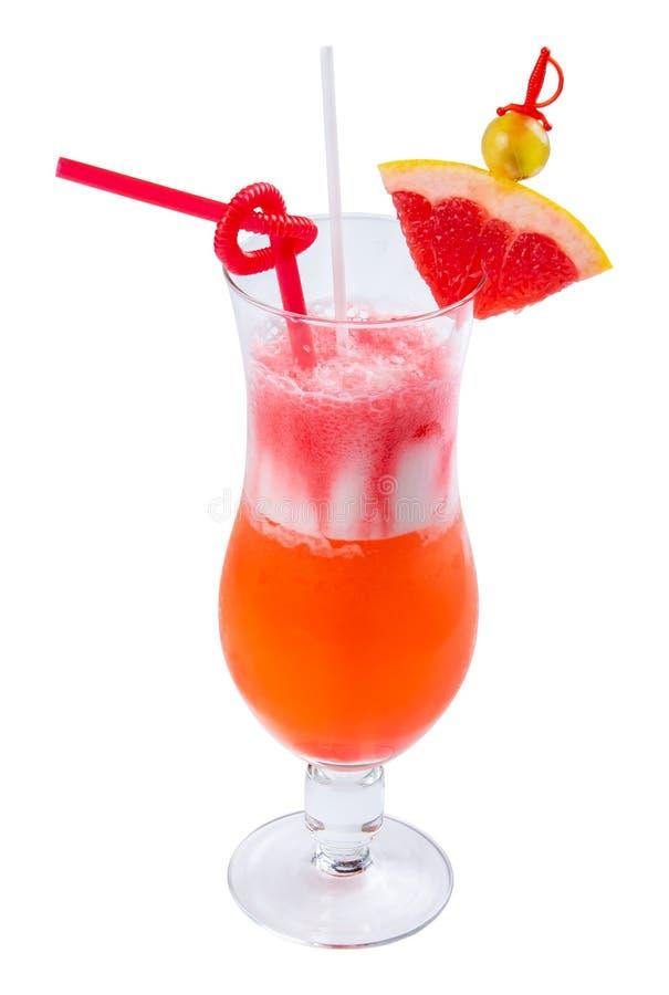 Sesso sul cocktail della spiaggia in un vetro alto fotografie stock libere da diritti