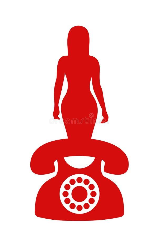 Sesso telefonico illustrazione vettoriale