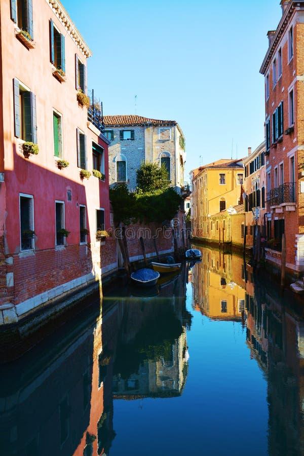 Sestiere di S Polo i Venedig, Italien arkivbild