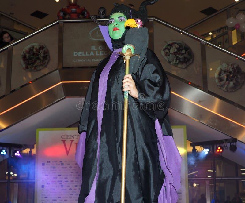 Sesto San Giovanni, Italia: 16 febbraio 2019: Concorrenza di cosplay immagine stock libera da diritti