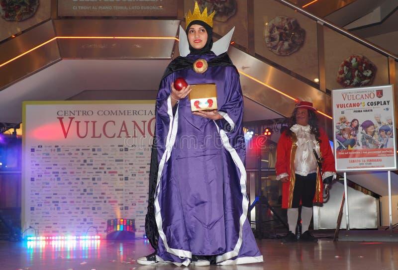 Sesto San Giovanni, Italia: 16 febbraio 2019: Concorrenza di cosplay fotografia stock libera da diritti