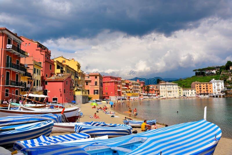 Sestri Levante Genoa Italy arkivbild