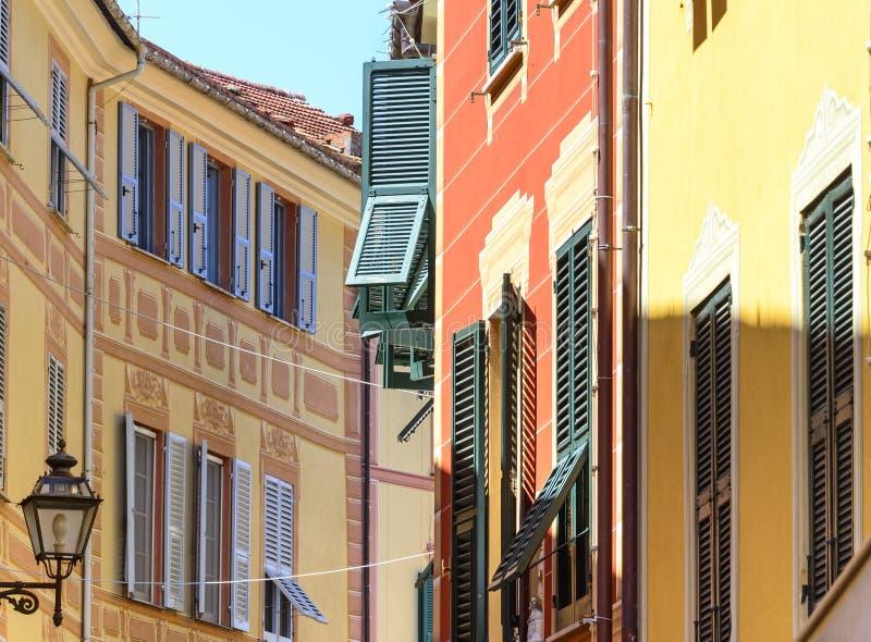 Sestri Levante (Genua, Italien) royaltyfria foton