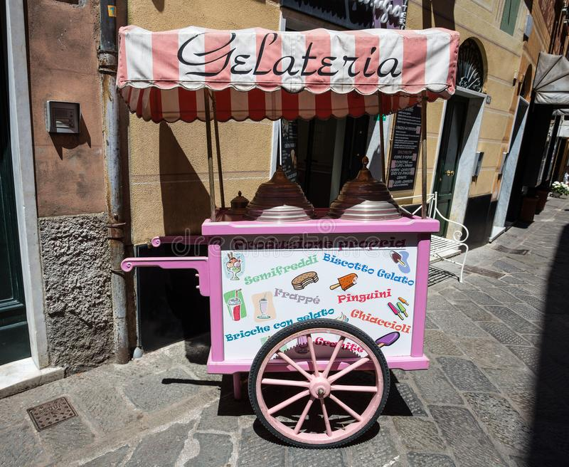 Typical old-style Italian ice cream shop royalty free stock photo