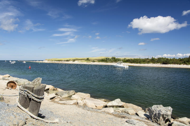 Sesuit Creek Cape Cod Massachusetts. Sesuit Creek in Northside Marina East Dennis Cape Cod Massachusetts stock photography