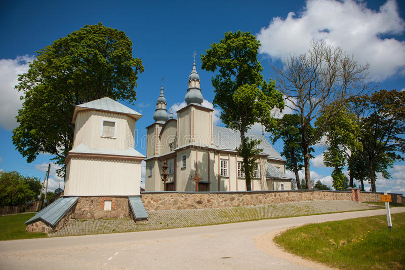 Sesuoliai Church. St Joseph Church in Sesuoliai, Ukmerge district, Lithuania royalty free stock photography