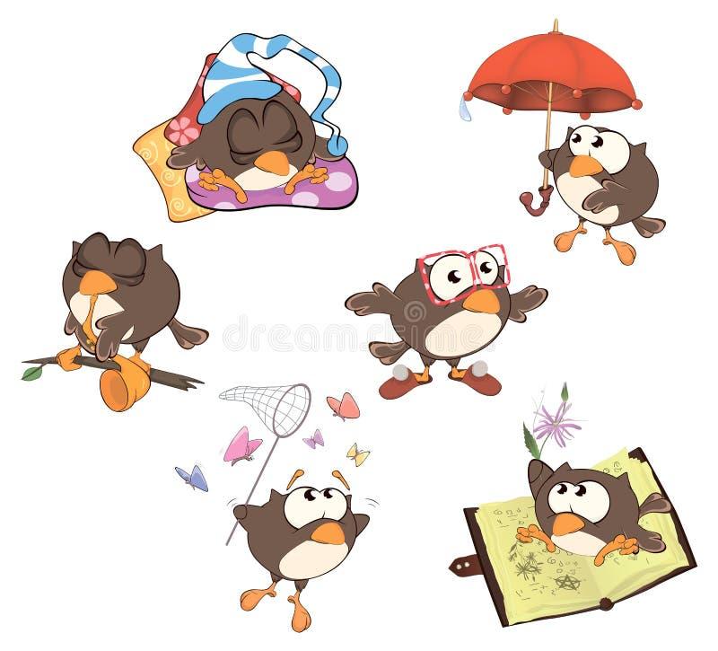 Set śliczne sowy dla ciebie projektuje kreskówka ilustracji