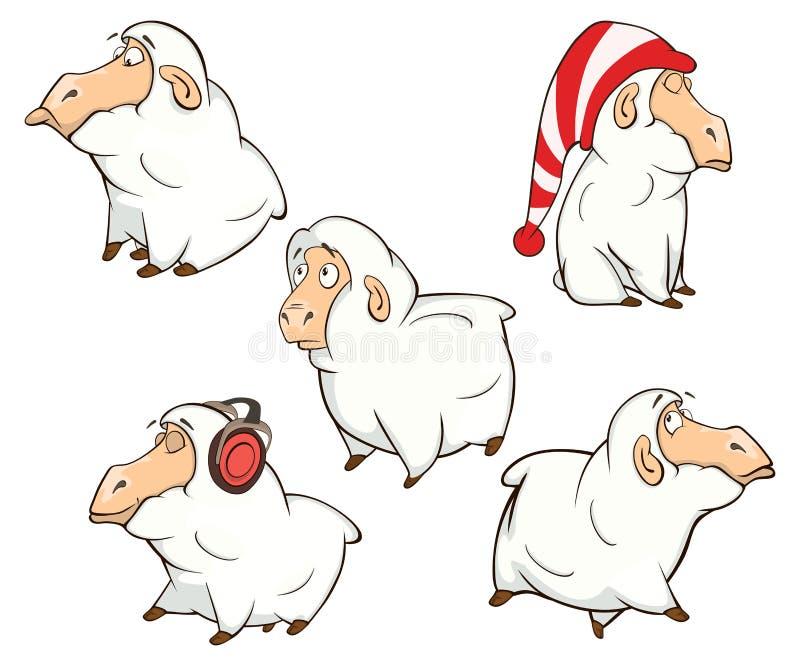Set śliczni kreskówka cakle ilustracji