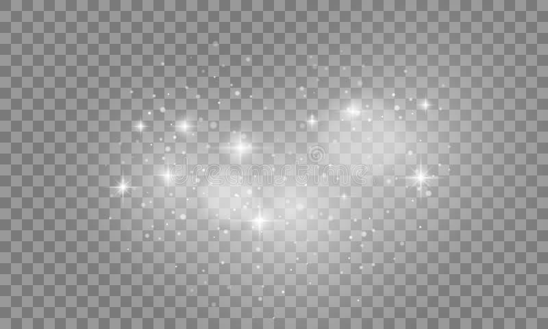 Set światło białe skutki odizolowywający na przejrzystym tle Słońce błysk z łuny światłem reflektorów i światłem wektor ilustracji