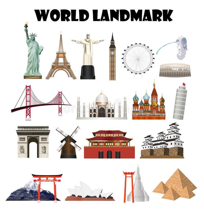 Set światu rzeczywistego punkt zwrotny royalty ilustracja