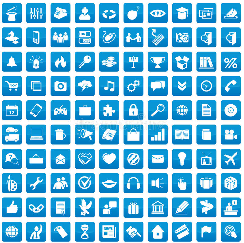 Download Set Of 100 Icons For Each Day Royalty Free Stock Images - Image: 27685929