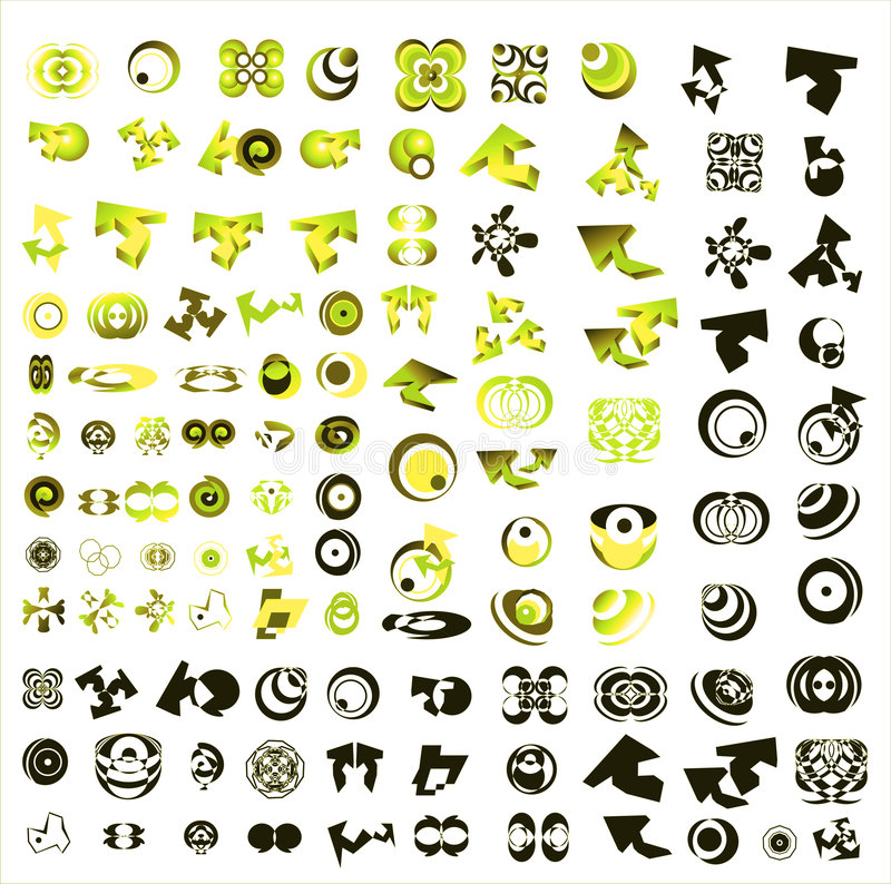 Set Of 110 More Logos Stock Photography
