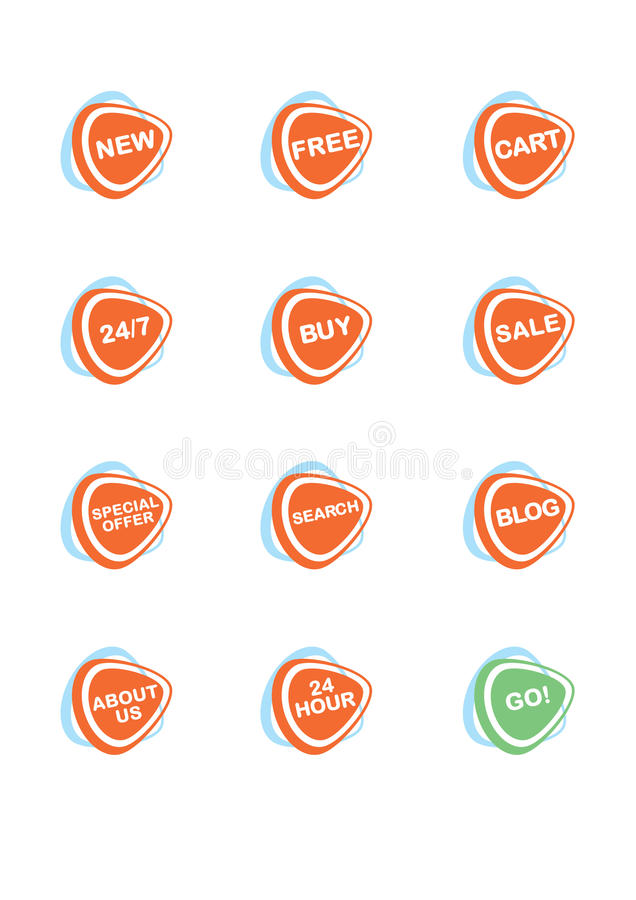 Download Set Of 12 Vector Online Shopping Icons Royalty Free Stock Images - Image: 19795559