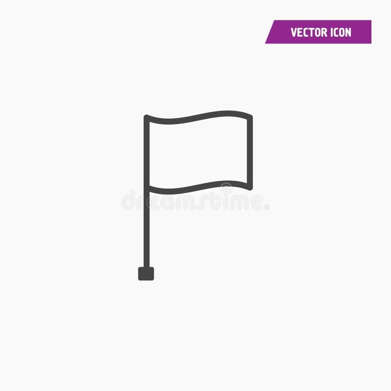 Black line flag Icon. Black line flag Icon - Vector on white background vector illustration