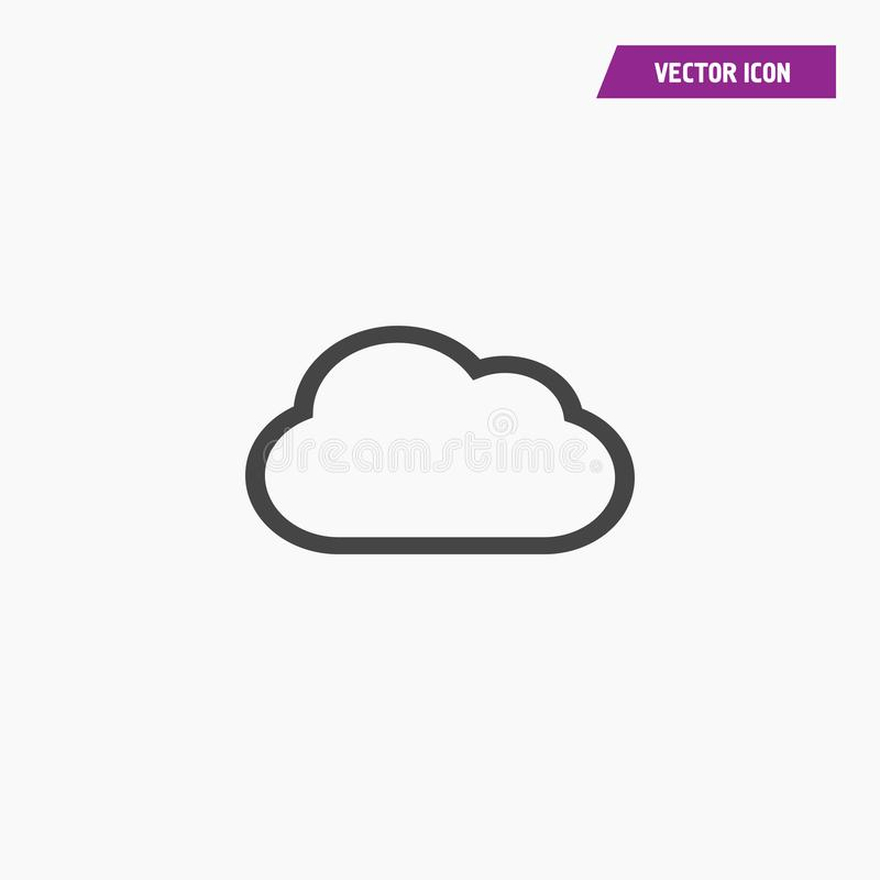 White line cloud icon vector 10 EPS. royalty free illustration