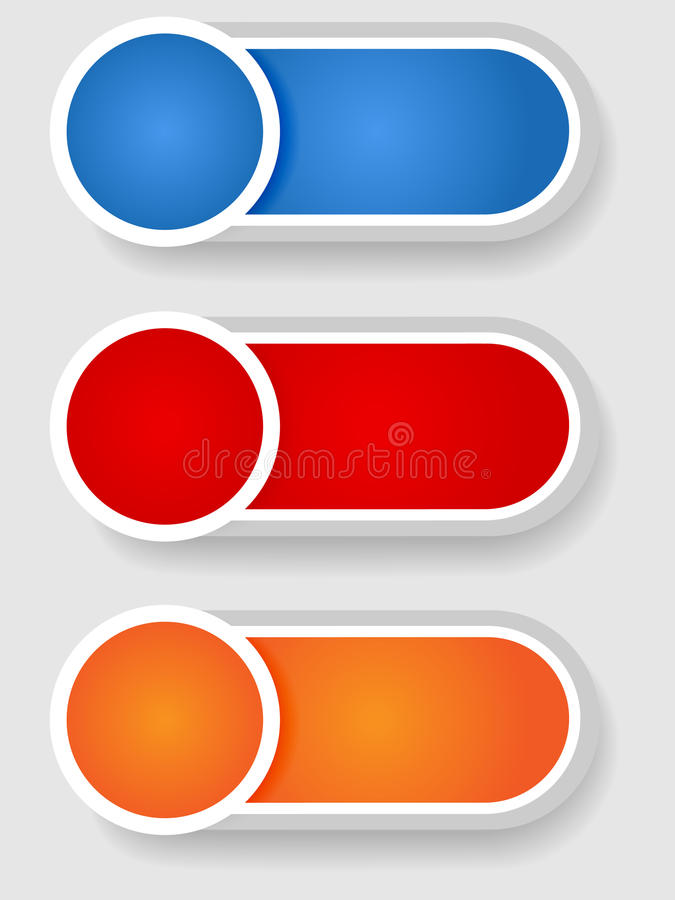 Set 2 Of Circle And Cylinder Labels Stock Photo