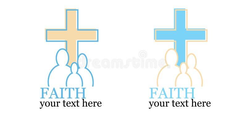 Set 2 loga z przecinającym/religijnym tematem zdjęcie royalty free