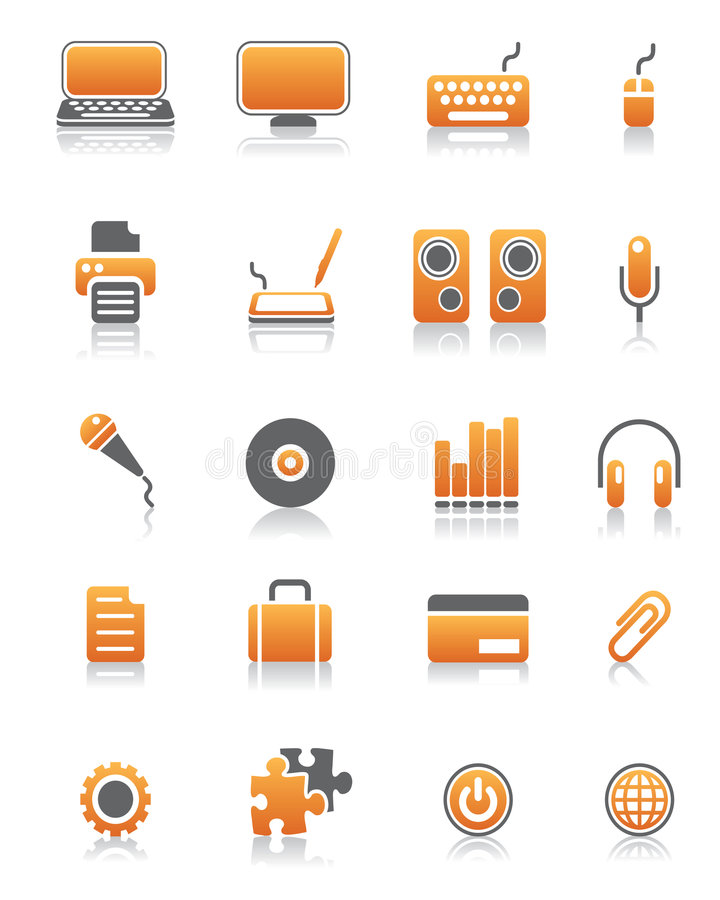 Set of 20 computer icons vector illustration