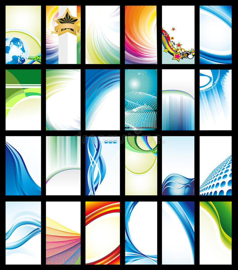 Download Set 24 Of Layout Card Collection Royalty Free Stock Photos - Image: 25854088