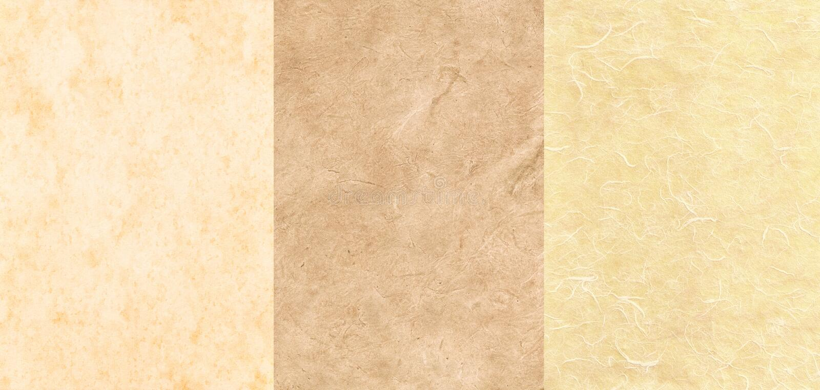 Download Set Of 3 Parchment Textures Stock Image - Image of aged, beige: 21946903