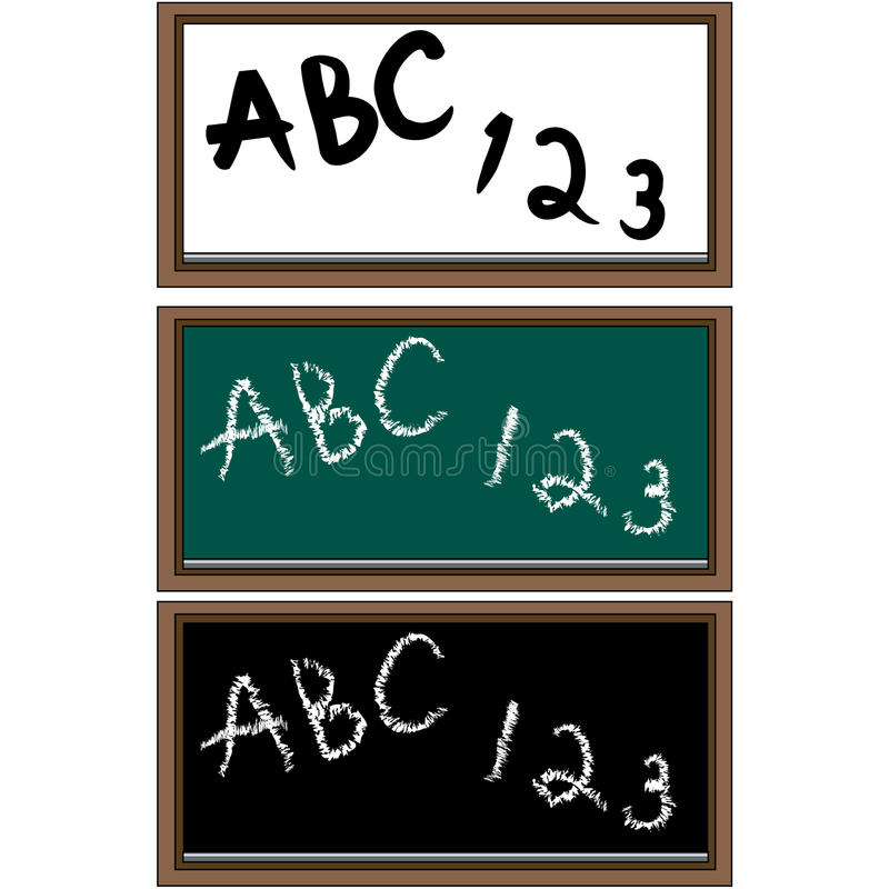 Download Set of 3 School Boards stock vector. Illustration of school - 12991419