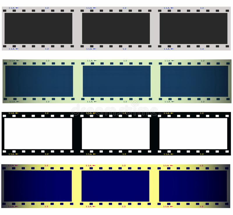 Download Set 35 Mm Film Strip Isolated On White Stock Images - Image: 27272504