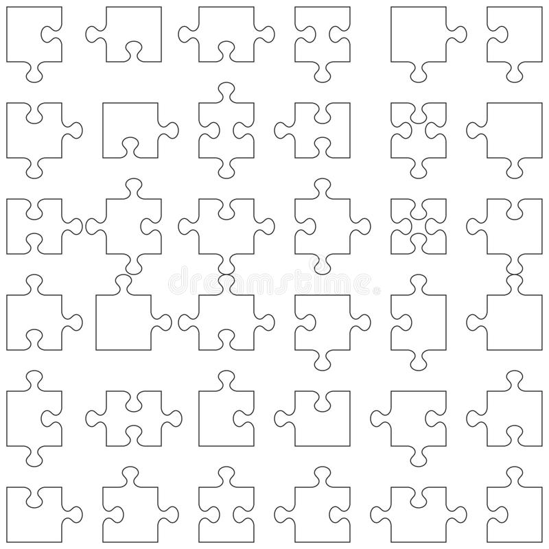 Set of 36 puzzle pieces royalty free stock photography